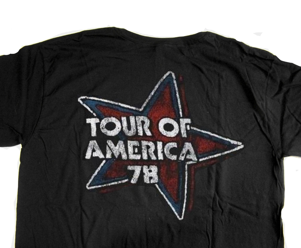 Back of The Rolling Stones Tour of America 78 T-Shirt