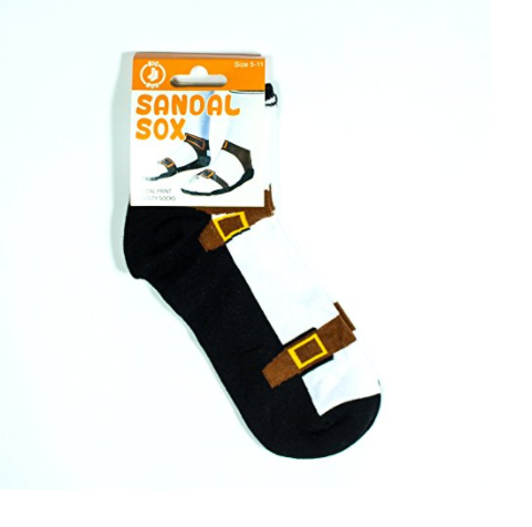 Sandal with socks in package