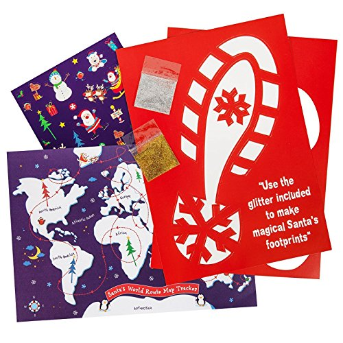 Santa's Footprints Sticker & Stencil Kit
