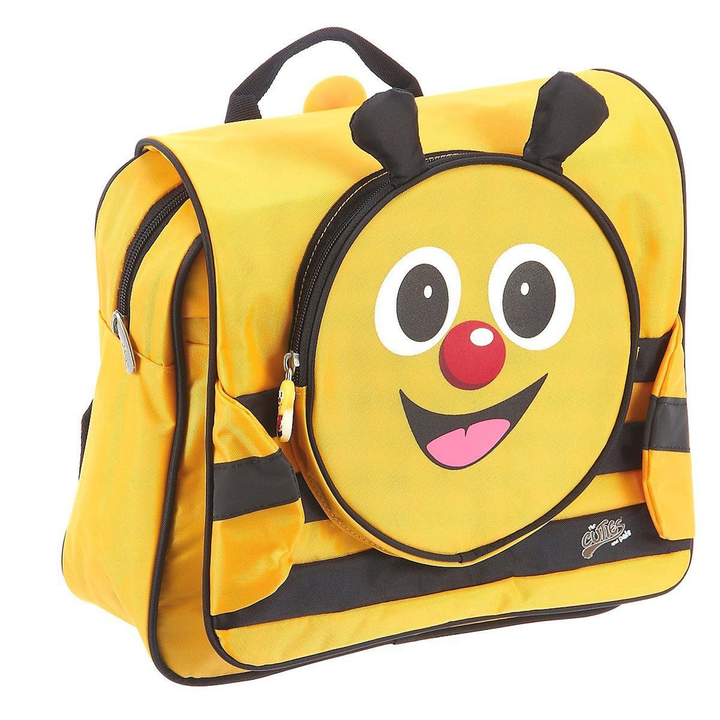 Cazbi Bee ~ Cutie & Pals ~ Soft School Backpack ~ Yellow & Black