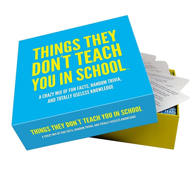 Things They Don't Teach You In School Trivia Card Game