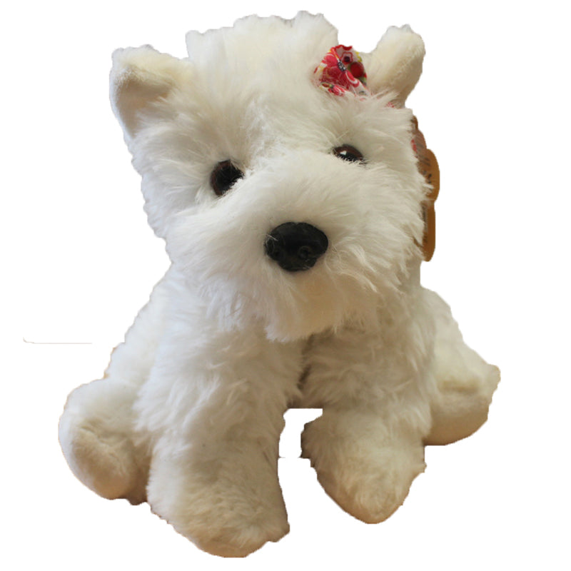 White Scottie Dog Plush Toy