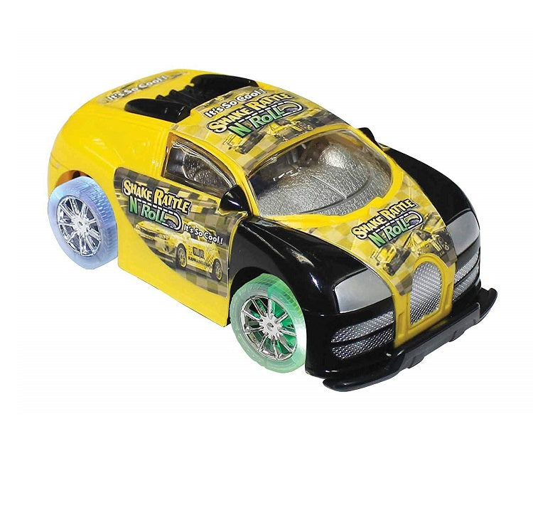 Shake Rattle N Roll Race Car by Funtime Gifts Yellow