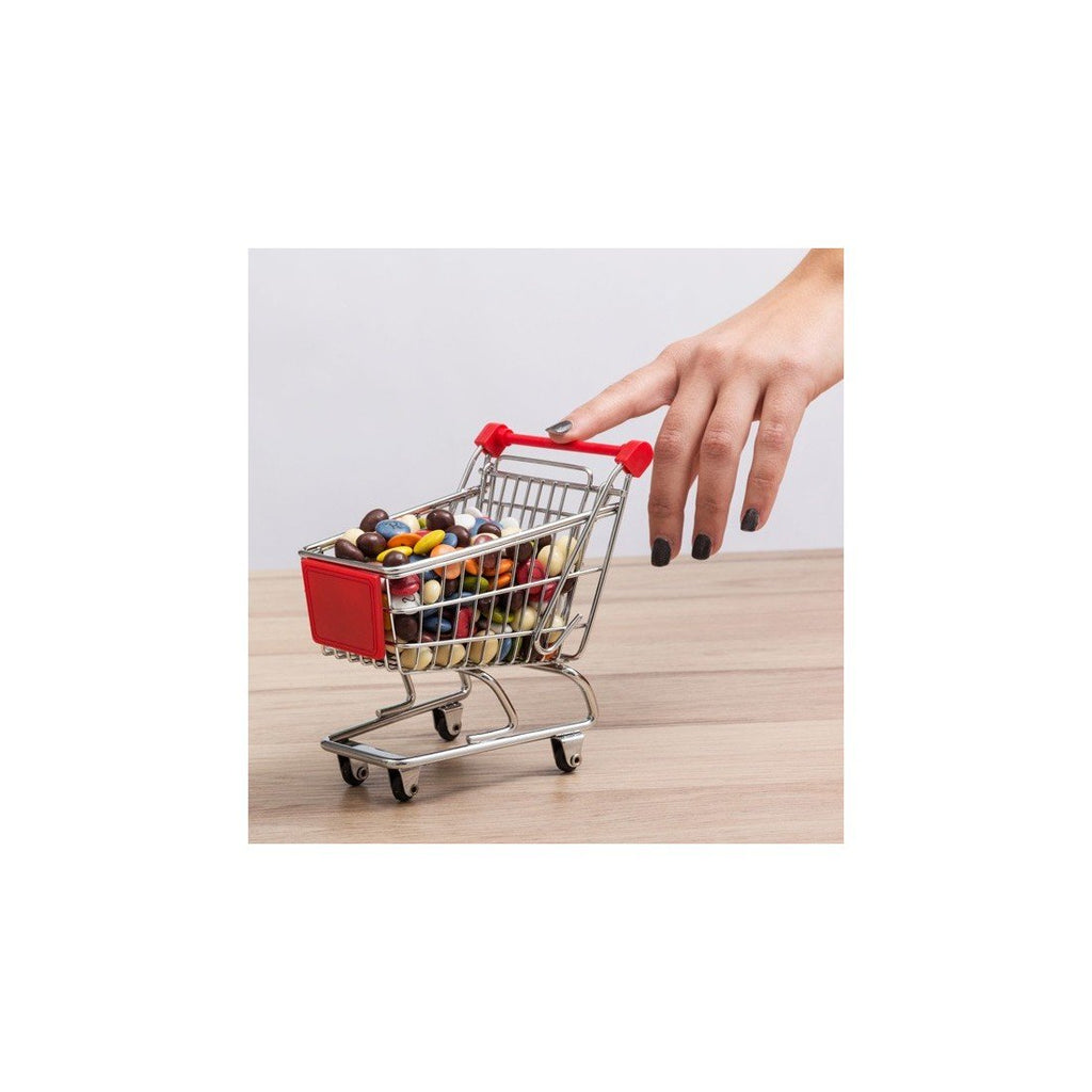 Mini Shopping Trolley Fun Desk Tidy Pen Holder | Funny Office Gifts