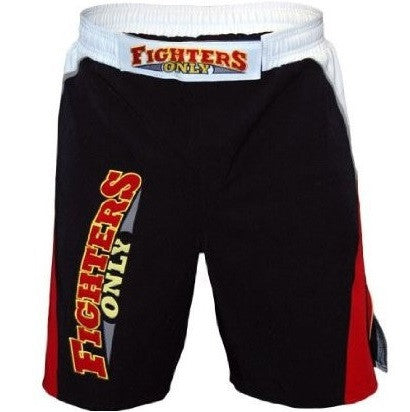 Fighters Only Men's MMA Fight Shorts - Black