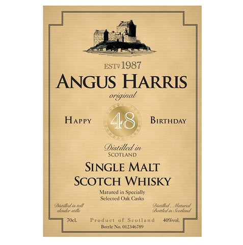 Personalised Birthday Labels for Single Malt Whisky (Pack of 2)