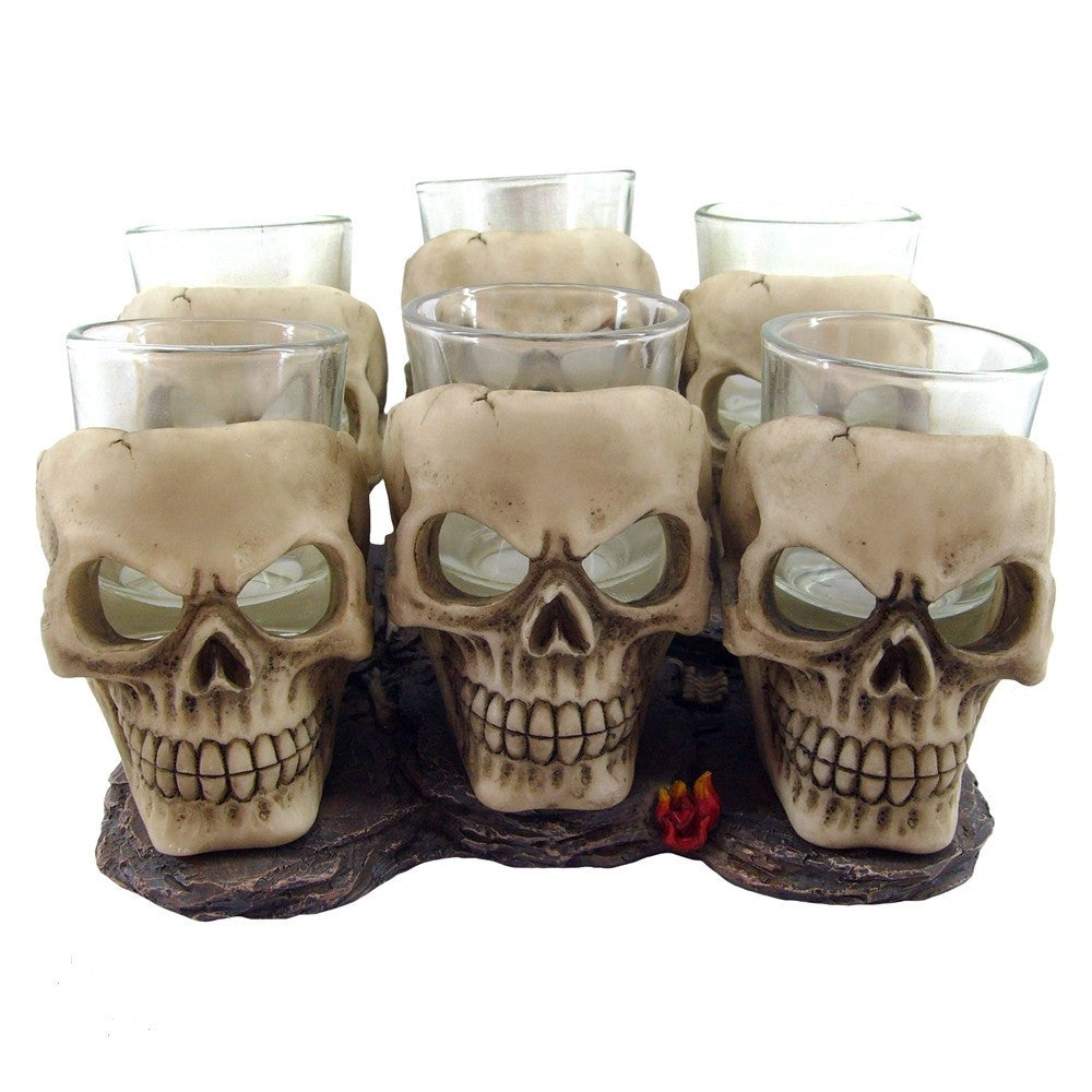 Nemesis Now Set of 6 Shooter Skulls