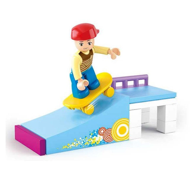 Sluban - Girl's Dream - Skateboarder Building Bricks Set