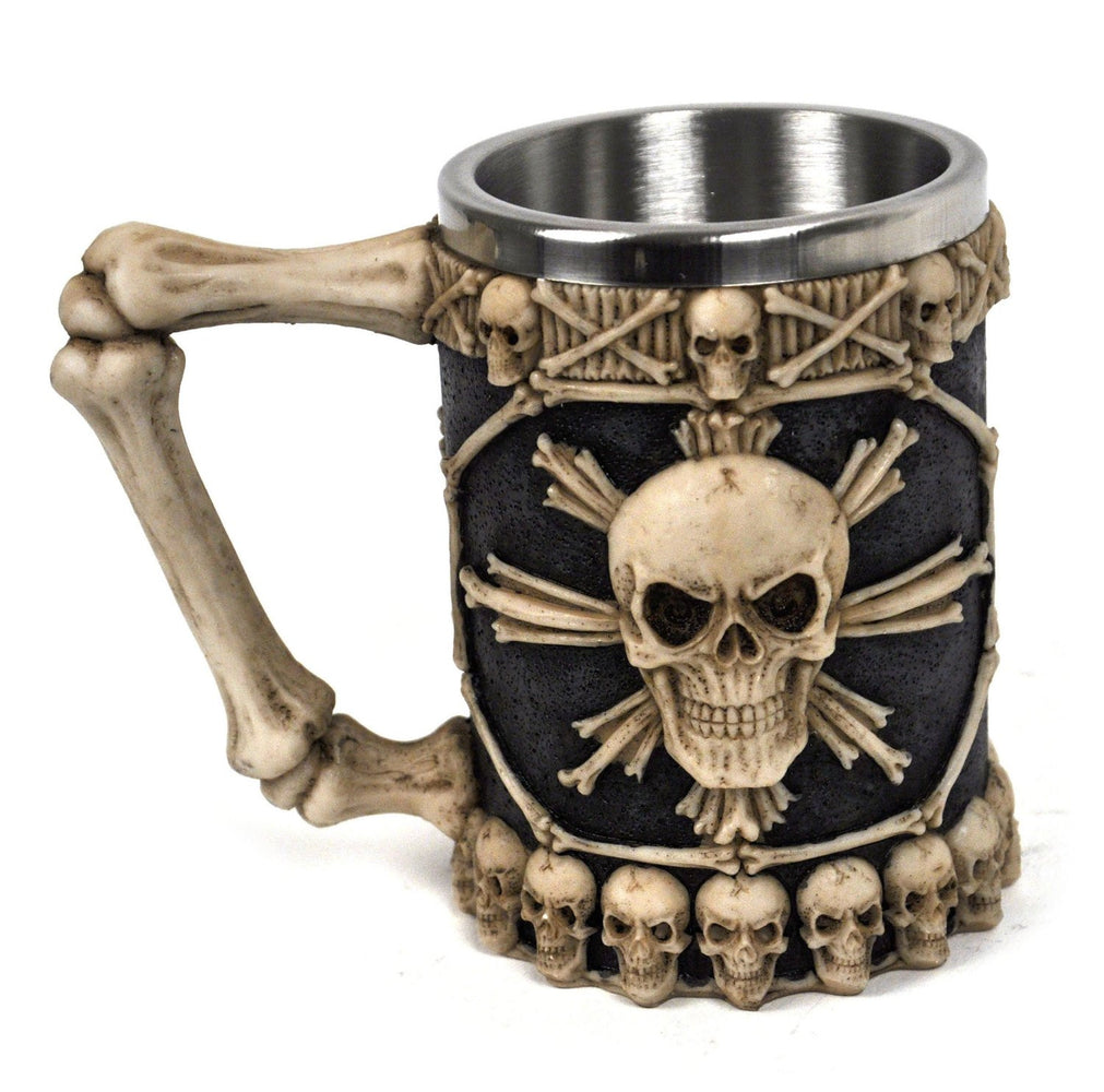Nemesis Now Large Tankard of Skulls 16cm