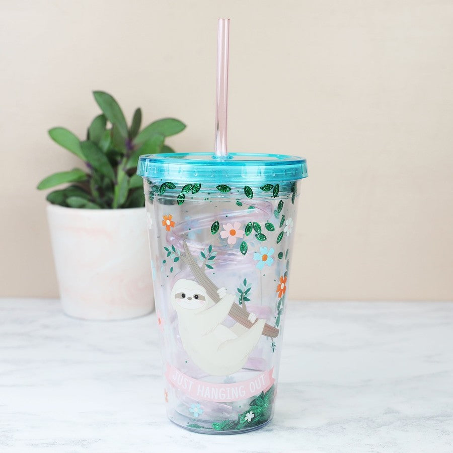 Sloth Twisty Straw Cup