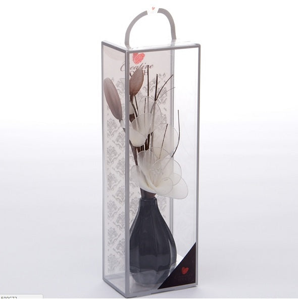 Cream Mesh Net Flower Arrangement in Bud Vase