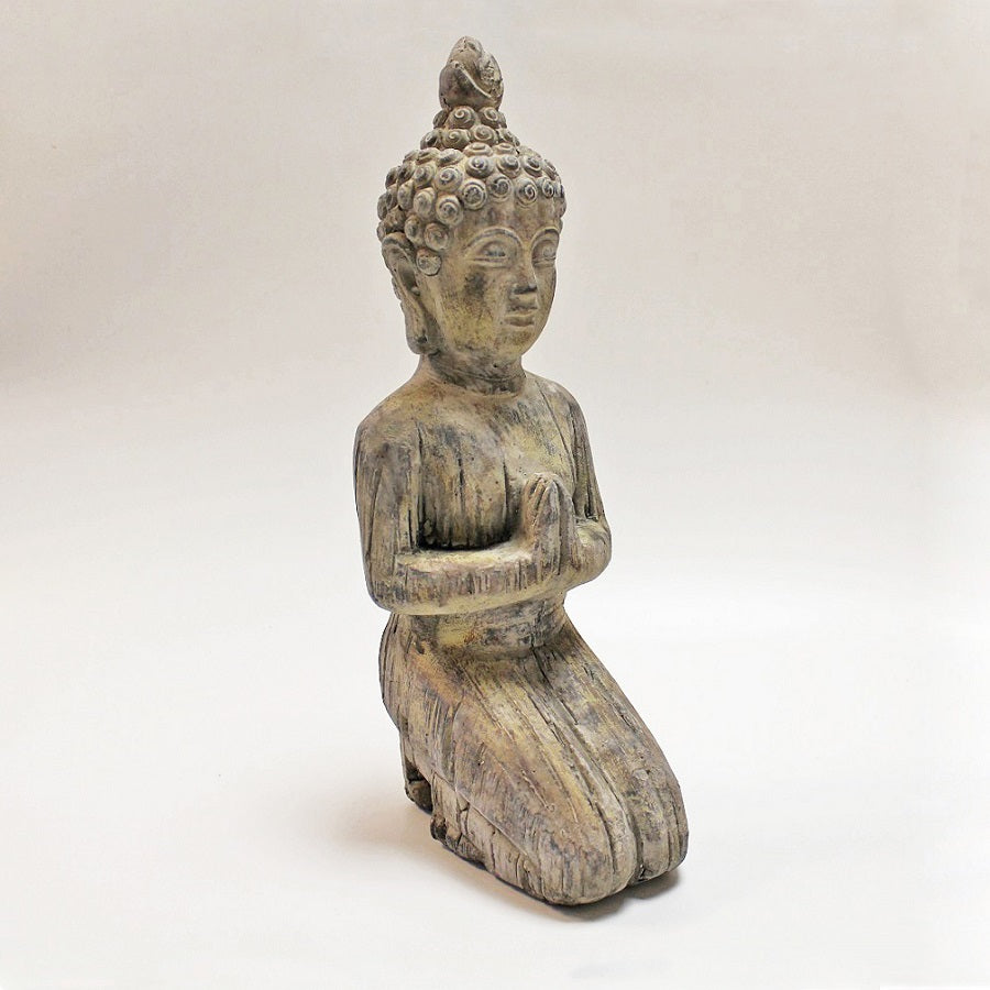 Small Kneeling Stone Buddha by Stone The Crows