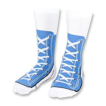 Sneaker Print Novelty Socks
