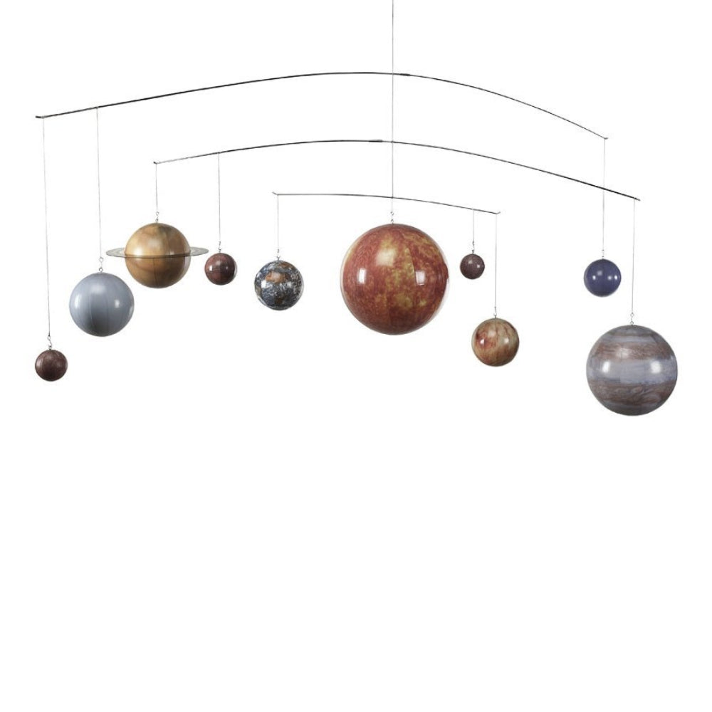 Solar system mobile hanging planets