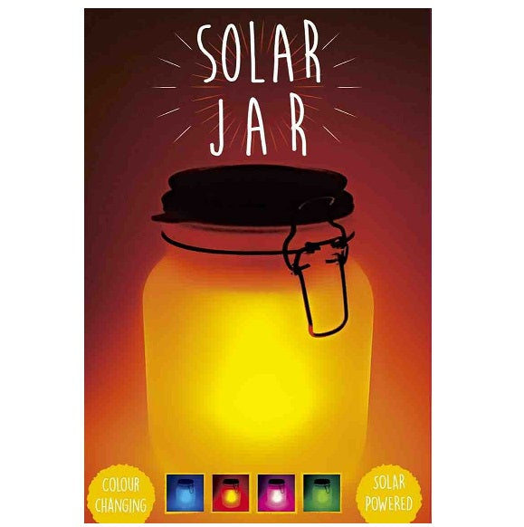 Colour Changing Solar Glass Jar