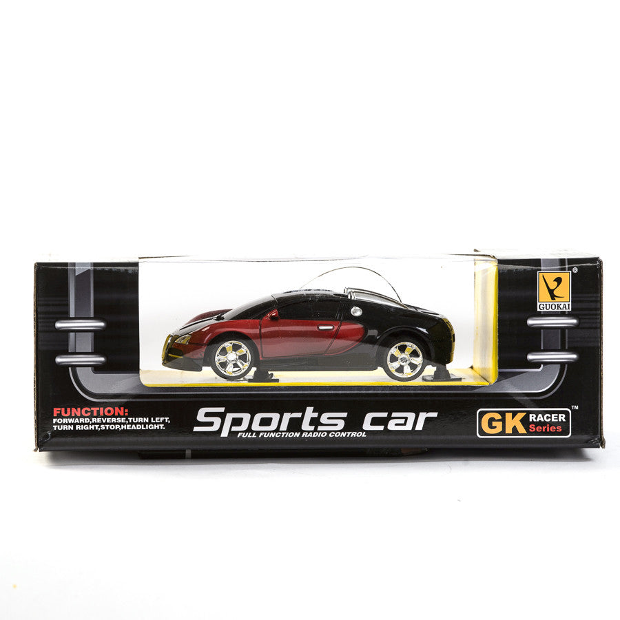 Guokai Radio Control Sports Car - Black & Metallic Red