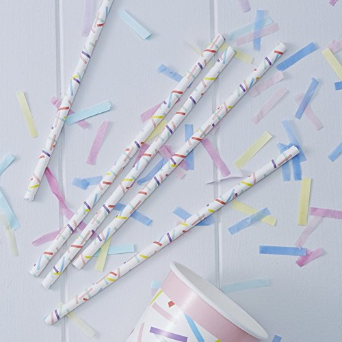 Sprinkles Paper Party Straws x 25