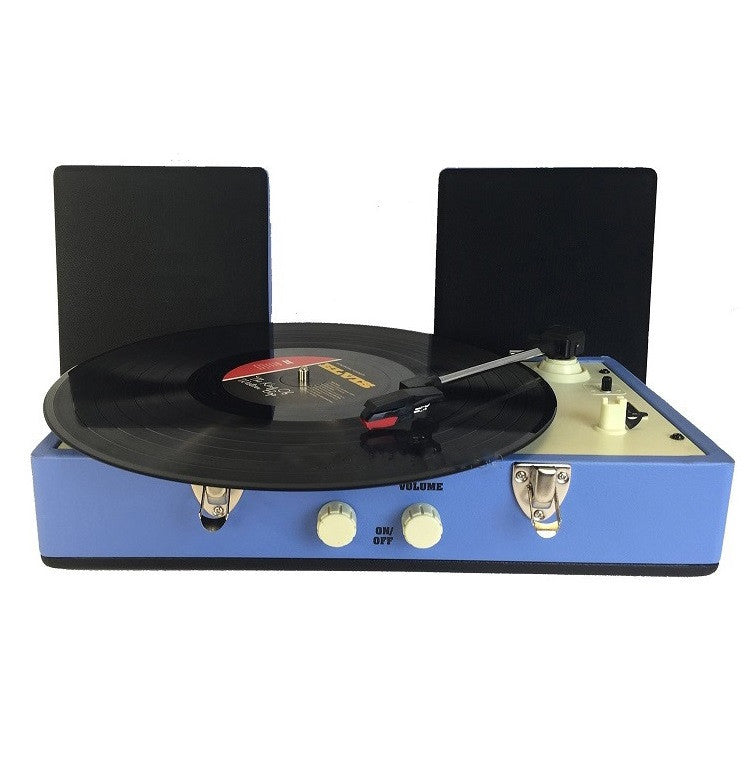 Steepletone SRP030S Retro Vinyl 2 Speed Record Player Turntable - Blue