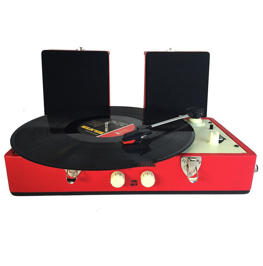 Steepletone SRP030S Retro Vinyl 2 Speed Record Player Turntable - Red