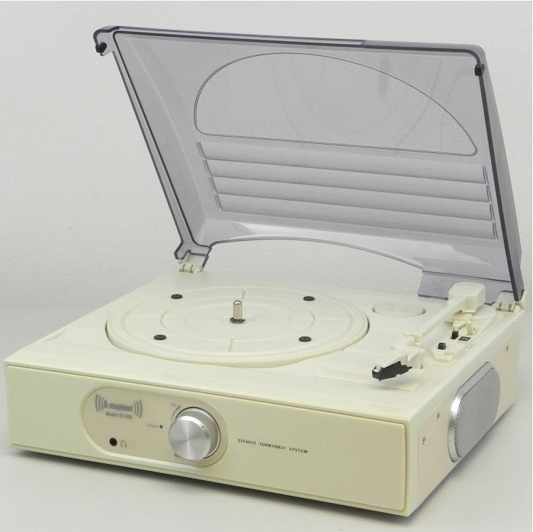 Steepletone 3 Speed Record Player - Cream