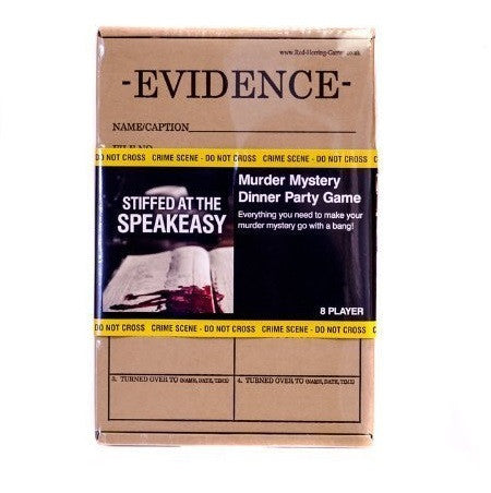 Evidence Murder Mystery Game - Stiffed at the Speakeasy