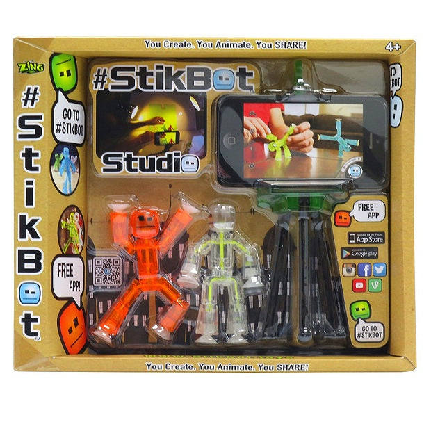 StikBot Studio Set Orange/Clear