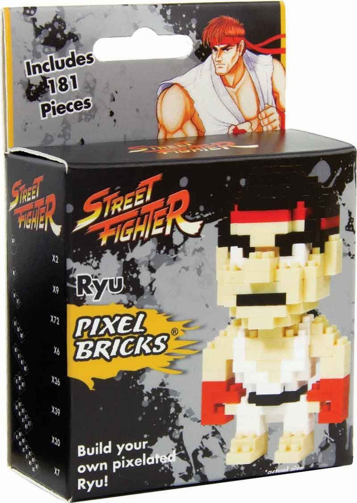 Street Fighter Ryu Pixel Bricks Figure Puzzle