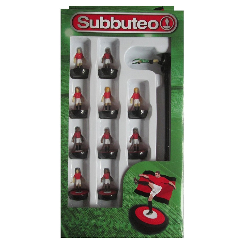 Subbuteo Football Team Set (Red/White/Black)
