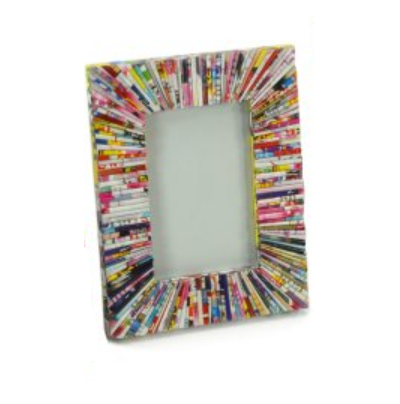 "Multicolour Paper Photo Frame 6"" x 4"""
