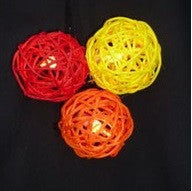 Sunlover - Rattan Ball Fairy Lights - Ass Red, Orange & Yellow. - Free trade made