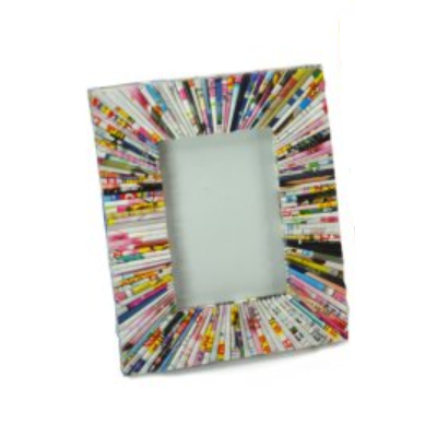 "Multicolour Paper Photo Frame 3.5"" x 5.5"""