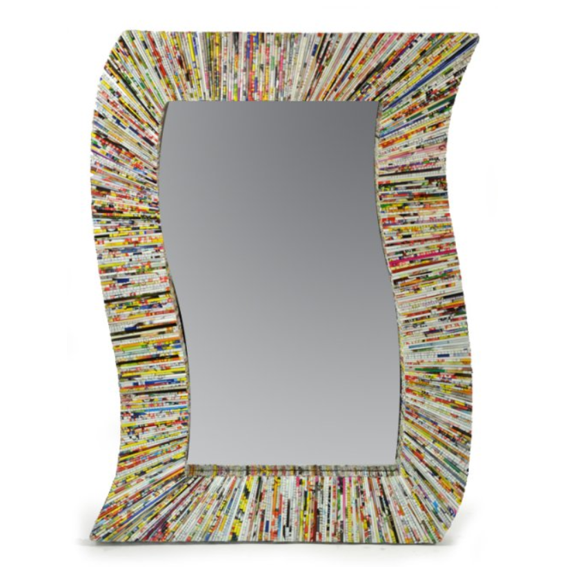 Sunburst Wavy Wall Mirror by Stone The Crows