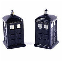 Doctor Who The Tardis Shaped Ceramic Salt and Pepper Shakers