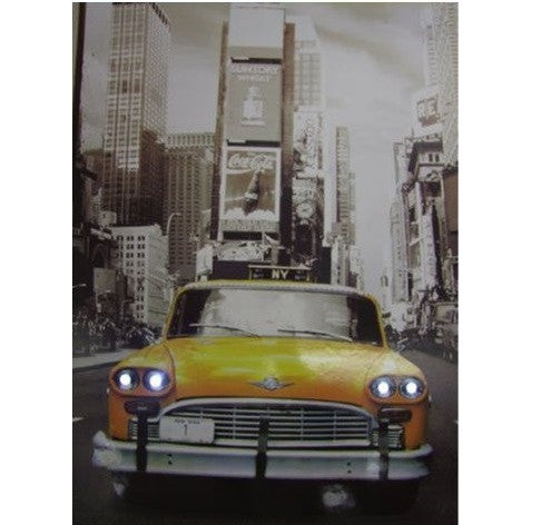 Steepletone New York Yellow Taxi Scene LED Picture