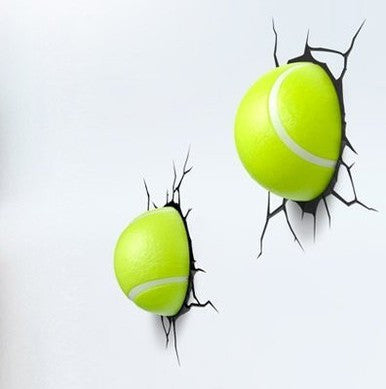Tennis Balls 3D Deco Wall Lights (Set of 2)