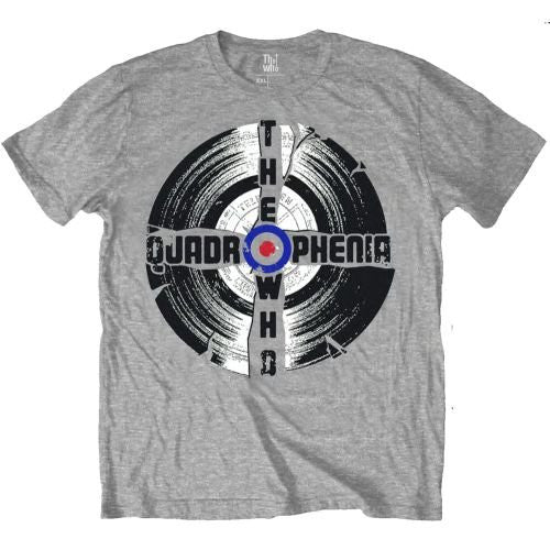 Official 'The Who' Quadrophenia Mens T-Shirt ~~ Grey/Vinyl/Mod