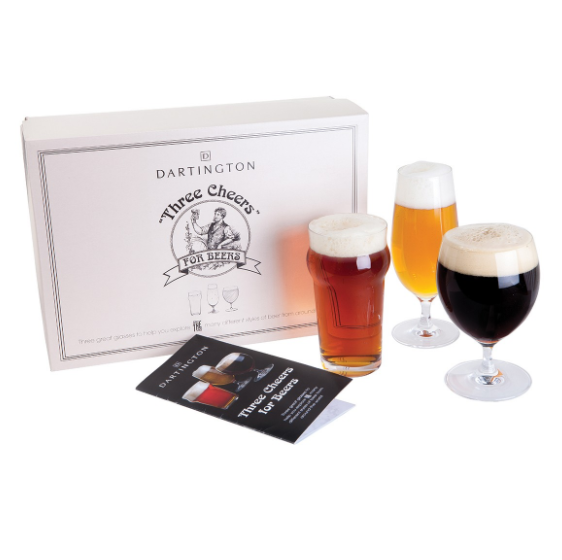 Dartington Three Cheers For Beers 3 Glass Gift Set
