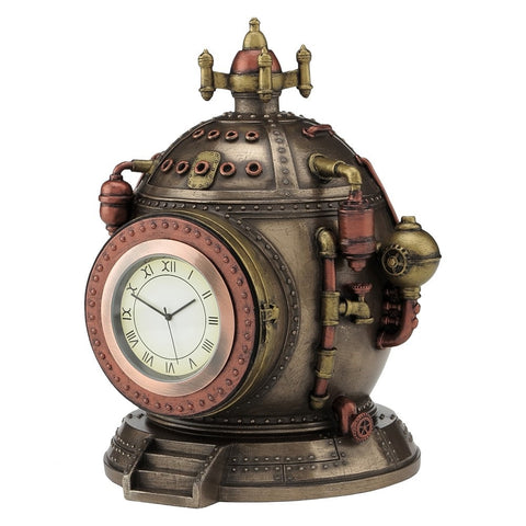 'Mechanics Of Time' Steampunk Clock Trinket Box