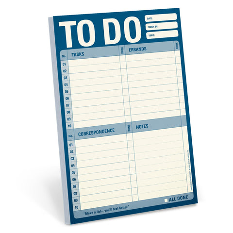 to do list pad to write note on for jobs to do