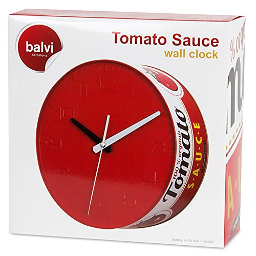 Tomato Sauce Tin Wall Clock by Balvi Box