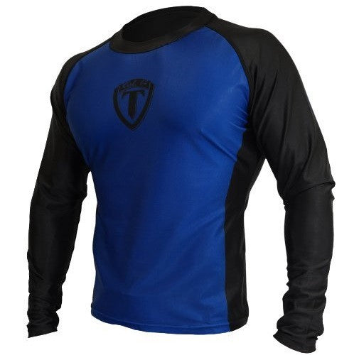 Torque Men's Rash Guard Long Sleeve Black/Blue Top