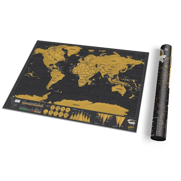 Luckies of London Scratch Map Deluxe Travel Edition with Gift Tube
