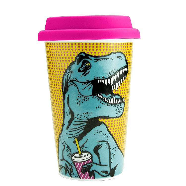 T-Rex Dinosaur Travel Mug by Mustard