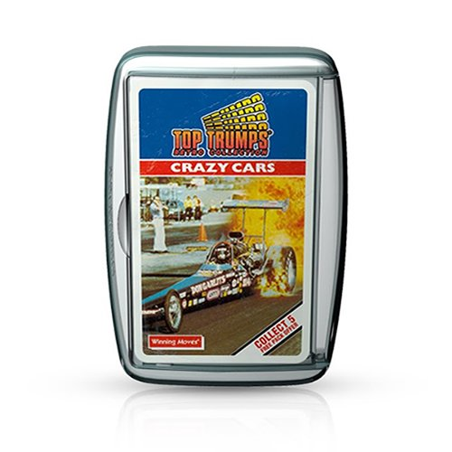 Crazy Cars Retro Top Trumps Card Game