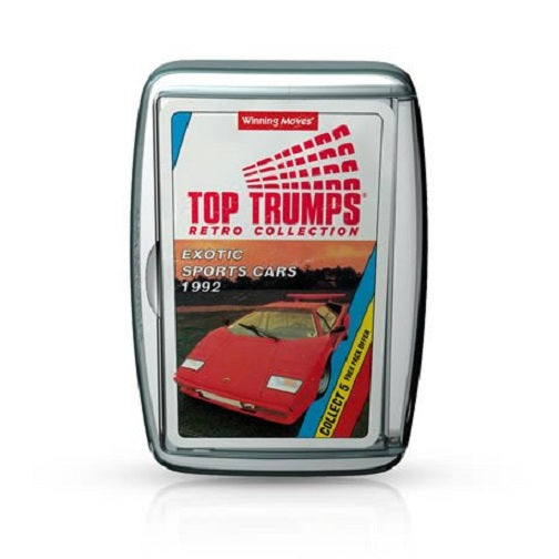 Exotic Sports Cars 1992 Retro Top Trumps Card Game