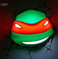 Raphael (Teenage Mutant Ninja Turtles) 3D Deco Wall Light
