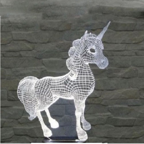 Unicorn Optical Illusion 3D Lamp