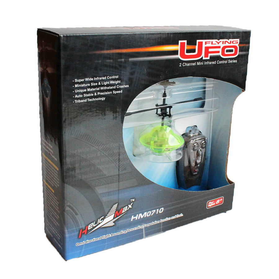 green ufo rc remote control in a box