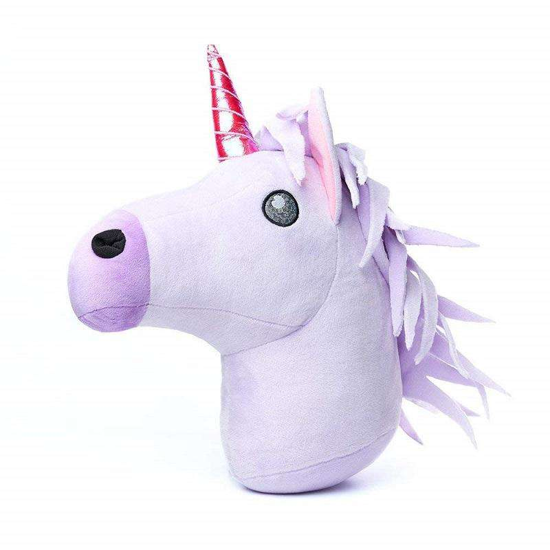 Emoji Unicorn Head Cushion gifts for girls