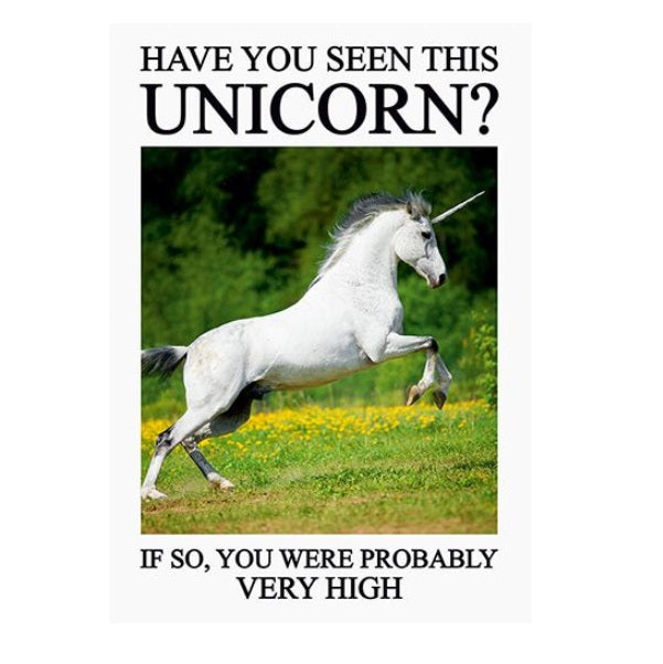 Unicorn Funny Birthday Greeting Card